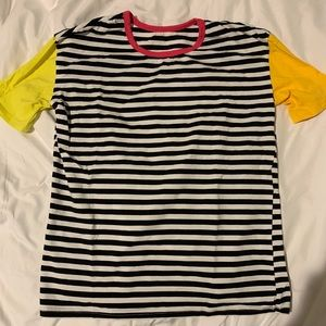 Shein striped color block tshirt size small